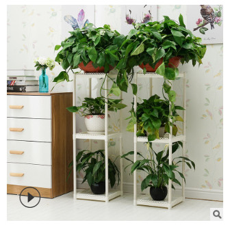 Wholesale green lace flower rack multi storey indoor Nordic plant shelf potted rack outdoor living room balcony three layer flow