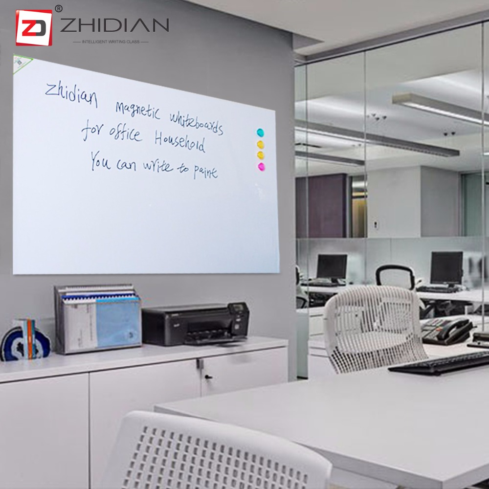 ZHIDIAN 36*48 Magnetic White boards Dry Erase Surface Adhesive classroom office provides space make lists doodle write notes activboard touch 88 dry erase 10 касаний по activinspire