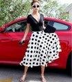 Novo 2016 verão mulheres moda do impressão bohemian chiffon saia longa plus size saias feminino
