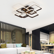 цена на Coffee Finish Modern Led Ceiling Lights For Living Room Bedroom Home lamparas de techo AC85-265V Ceiling Lamp light fixtures