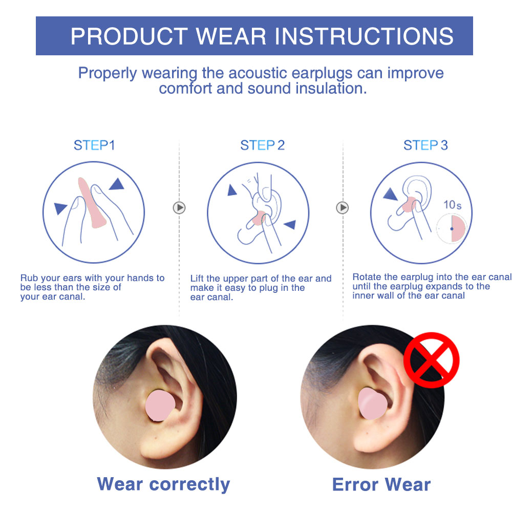 4pcs Upgraded Version Soft Foam EarPlug For Sleep Noise Reduction For Anti Interferen Noise Insulation Prevention Earplugs D1747 in Sleep Snoring from Beauty Health