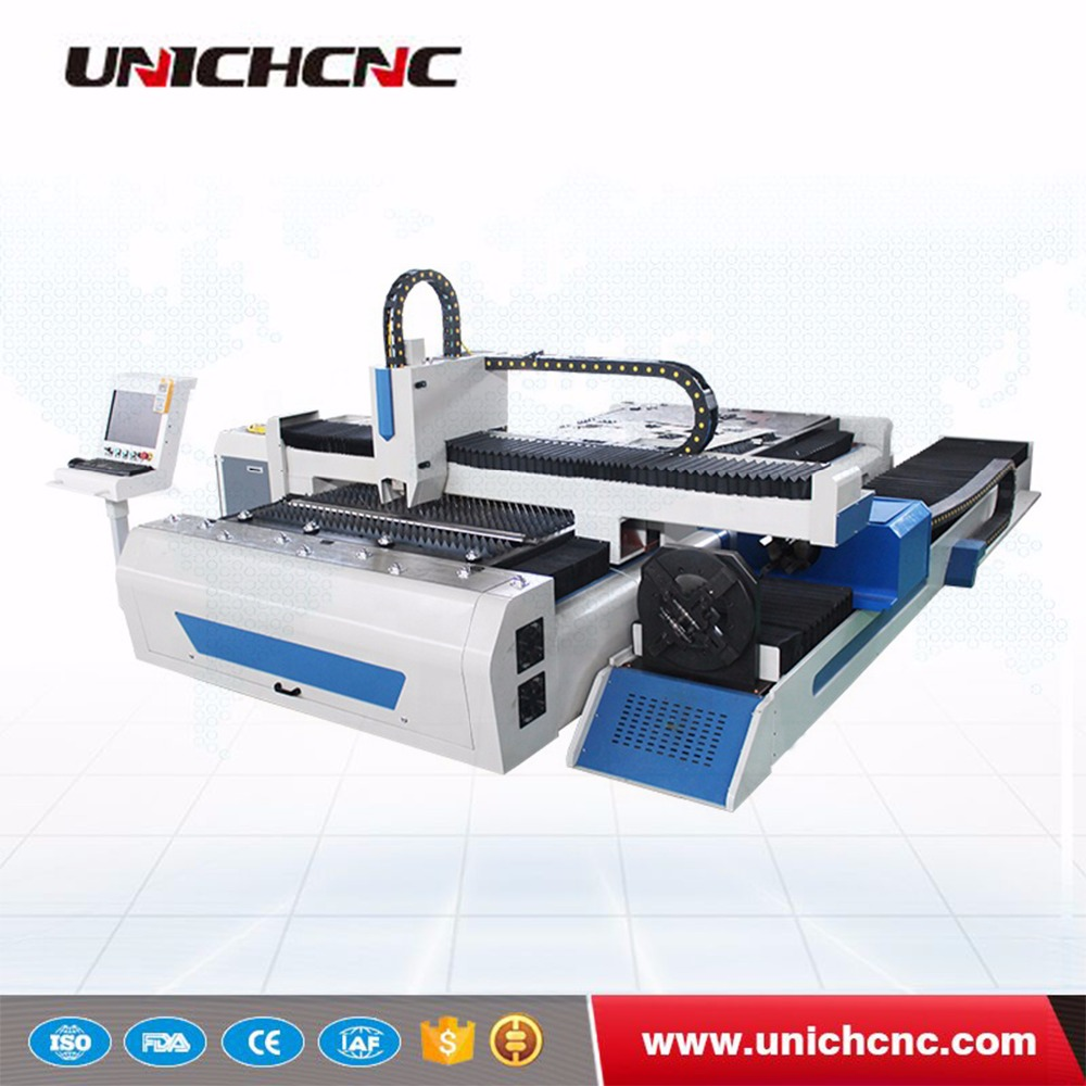 500W 750W 1500W 3000W 1.5kw 3kw CNC Fiber laser cutting machine cutter cut round square pipe tube metal sheet price