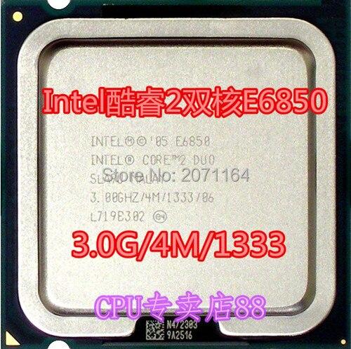 Бесплатная доставка для Intel Core 2 Duo E6850 3.0 Г 775 pin настольный компьютер CPU
