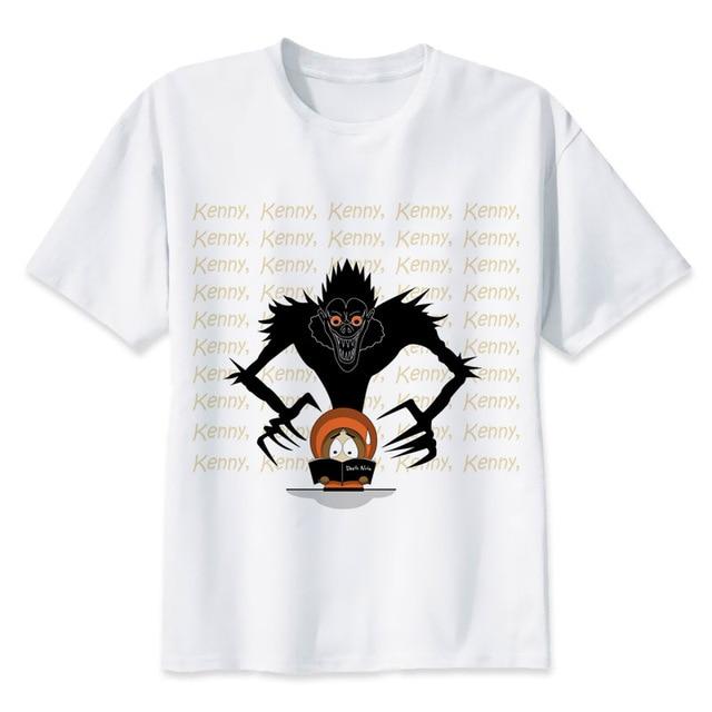 Death Note Men Hip Hop Short Sleeve T shirt