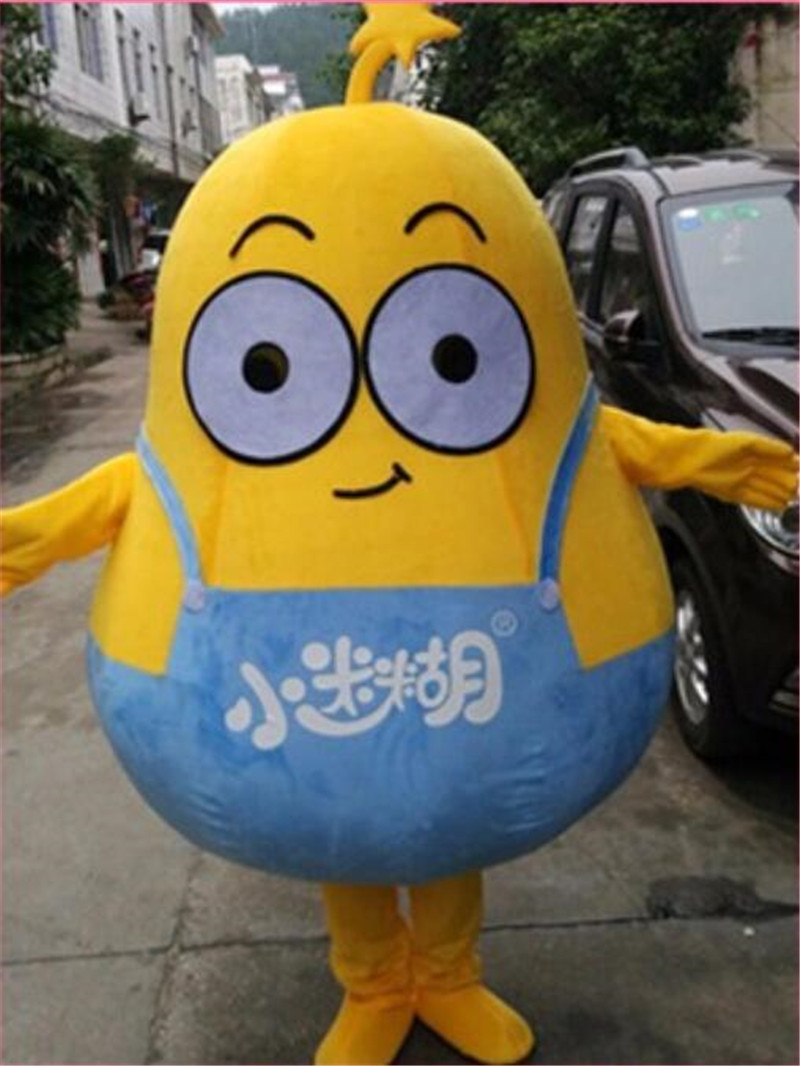 Cartoon Pear Mascot Costume Suits Cosplay Party Game Dress