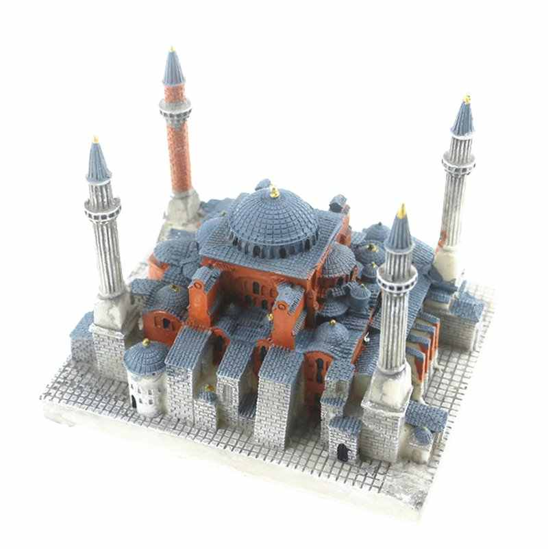 Sophia Cathedral, Istanbul, T Creative Resin Crafts World Famous Landmark Model Tourism Souvenir Gifts Collection
