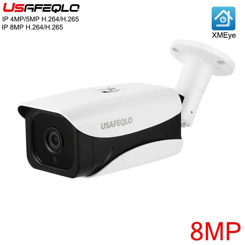 8MP IP Camera HD 3840 2160 Resolution IR Led Night Vision Surveillance Camera H 265 Waterproof