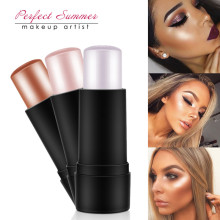 Perfect Summer Shimmer Highlighting Powder Creamy Silver Gold Shimmer Light Bronzer Highlighter Makeup For Face