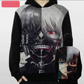 HOT NEW Tokyo ghouls Kaneki Ken Mask Cosplay Anime Clothes Winter clothing Long Sleeve Hooded Fleece Jacket