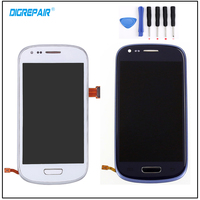 100 Test Blue White For Samsung Galaxy S3 Mini I8190 LCD Display Touch Screen Digitizer Assembly