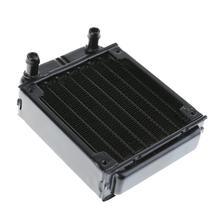 Алюминий компьютер радиатор водяного охлаждения радиатора охладитель трубок теплообменника Процессор теплоотвод для ноутбука Desktop