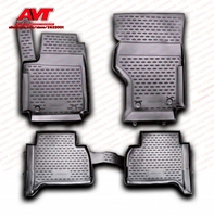 Floor mats for Volkswagen Amarok 2010 4 pcs rubber rugs non slip rubber interior car styling accessories