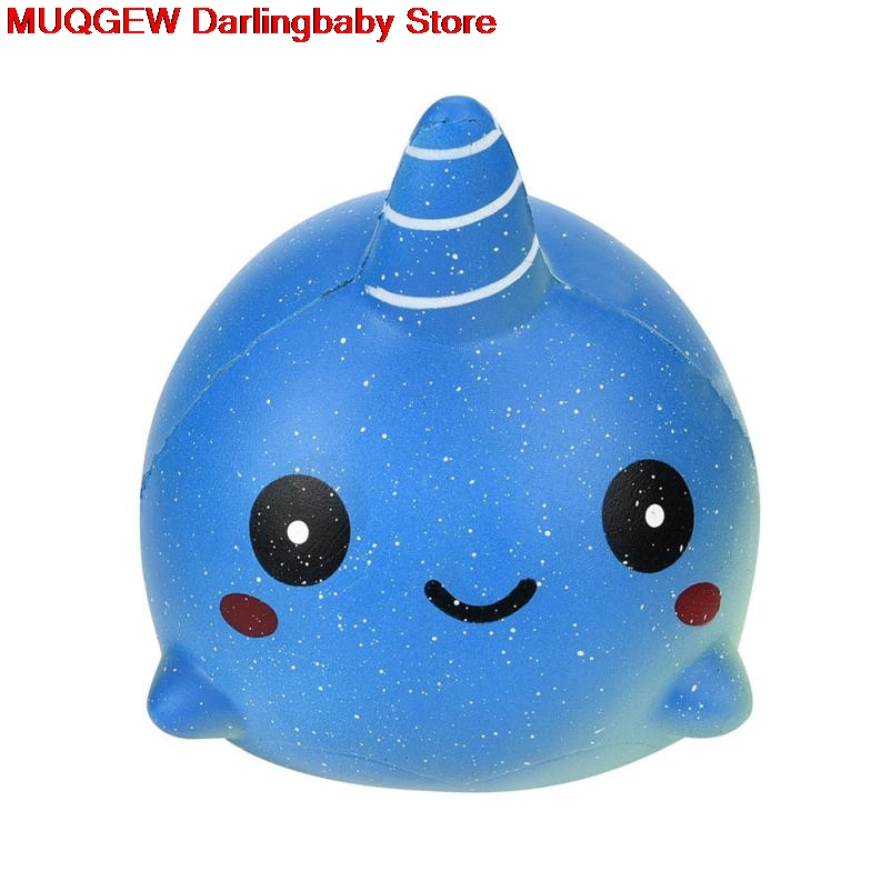 New Exquisite Cartoon Whale Squishy Slow Rising Fun Funny Gadgets Novelty Interesting Toys Stress Relief Squeeze Toys Decoration Welding Helmets