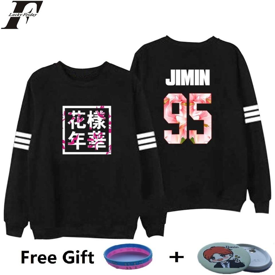 LUCKYFRIDAYF Bangtan Boys Kpop BTS Women Hoodies Sweatshirts Letter Printed in J HOPE 94 and SUGA