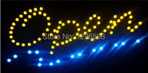 2017 Open shop led signs new arrival custom led sign 10x19 Inch Semi-outdoor Ultra Bright flashing store open sign