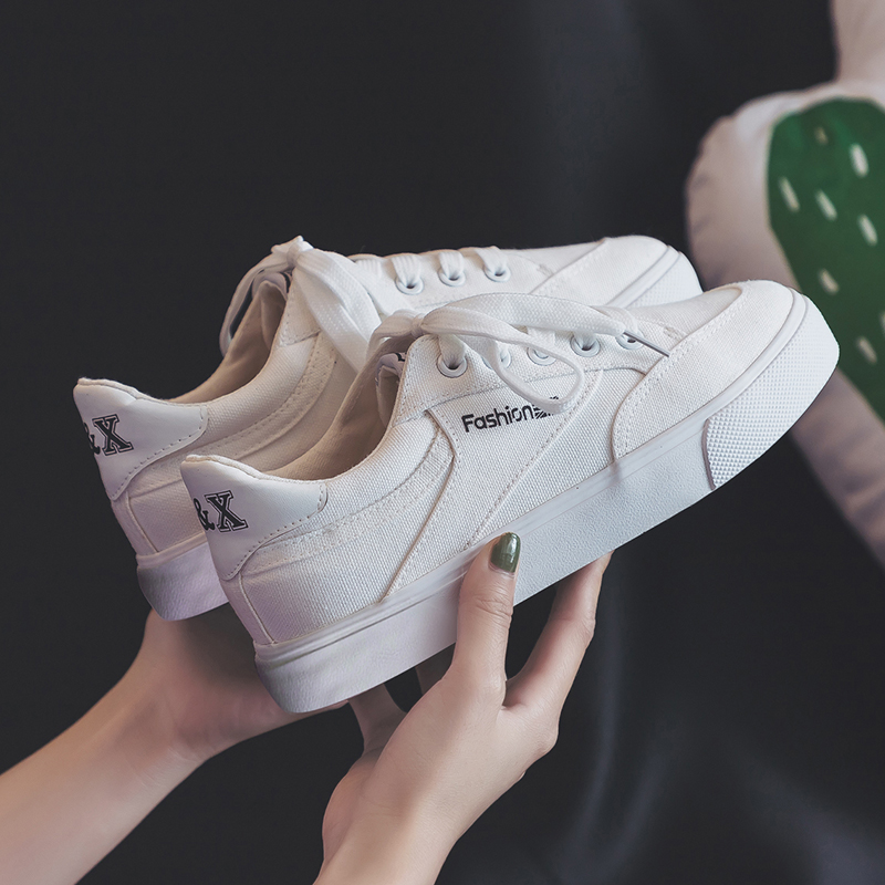 Fashion Style Women Canvas Vulcanized Shoes Simple Design Anti-Skid Sneakers for Female Comfortable Wear Resistant Casual Shoes 1