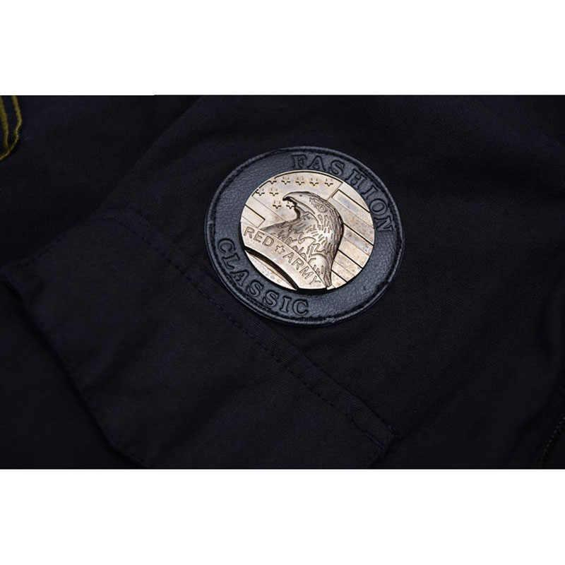 101 Jaquetas de Vôo Uniforme Militar dos homens da marca Outono Inverno Multi-pocketed Grosso Casaco Masculino Jaqueta Casual Dos Homens parkas 3XL CF1620