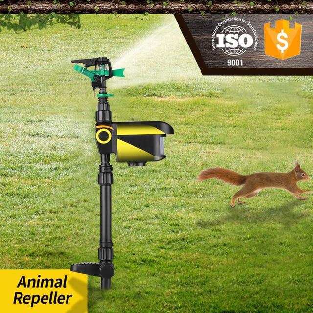 アップグレード ソーラーモーション活性化動物リペラー庭のスプリンクラーかかし、動物抑止力