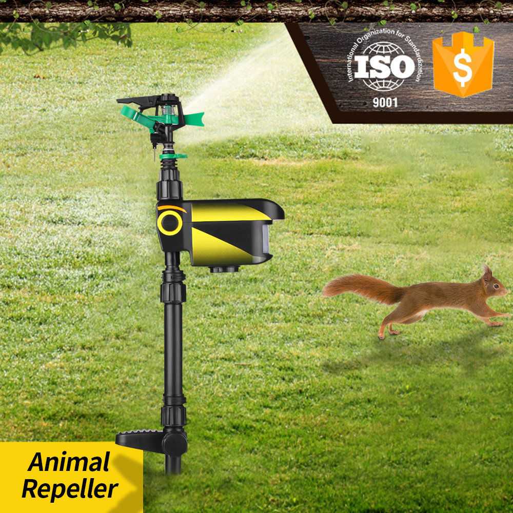 Animal Repeller Sprinkler Scarecrow Garden Powered Upgraded-Solar Motion-Activated title=