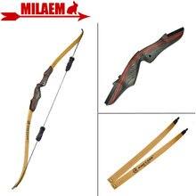 1 juego 62 pulgadas arco recurvo de tiro con estabilizador 25 50lbs peso de tracción mano derecha arco largo caza arco tiro accesorios de caza