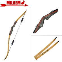 1Set 62inch Archery Recurve Bow With Stabilizer 25-50lbs Draw Weight Right Hand Longbow Hunting Bow Shooting Hunting Accessories one set archery camouflage compound bow with draw weight 20 70lbs perfect hunting bow