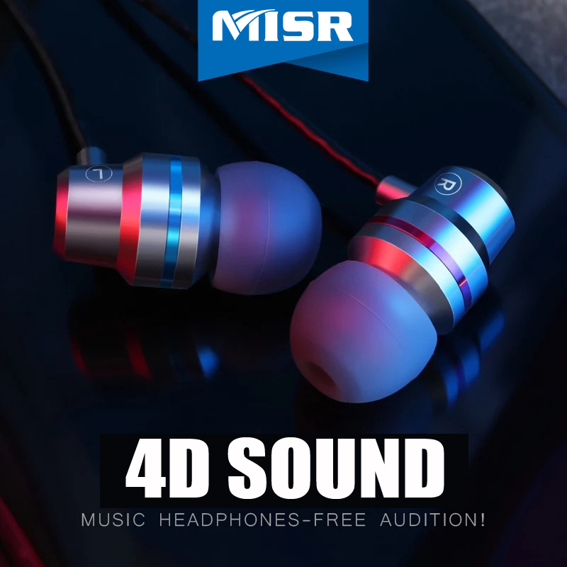 MISR X5 Metal Wired Earphone For Phone In Ear Headset Stereo Bass Earbuds with Mic Microphone Noise Cancelling 3.5mm Jack mifo r1 super bass wired earphone stereo music in ear earbuds 3 5mm microphone headset with mic for iphone xiaomi huawei samsung