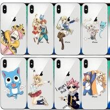 3e5726221a1 Anime Manga de cola de hadas logotipo suave de silicona caja del teléfono  TPU para iphone 4S 5C 6 S 6 7 8 Plus 5S 5 X XR XS.