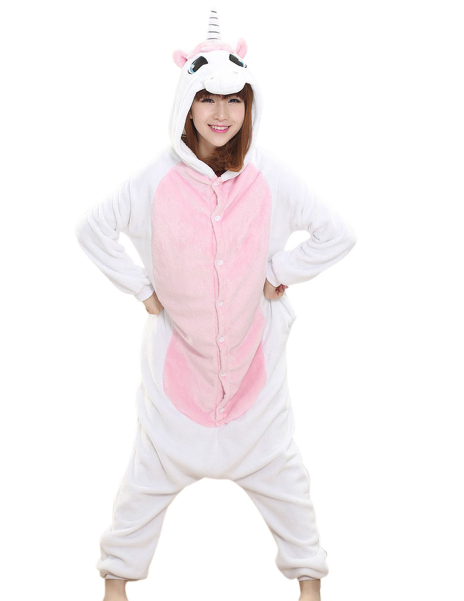 Wholesale Maternity Pajamas Kigurumi Unicorn Cartoon Sleepwear Women Nursing Nightgown Flannel Animal Cosplay Costume Pajamas