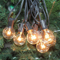 7.6M G40 Festoon Led Globe Bulb Led String Lights Outdoor Waterproof Led Ball String Garland Party Wedding Backyard Patio D