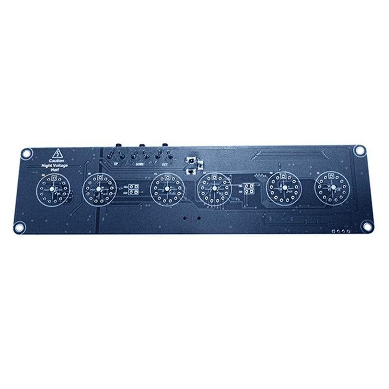 DIY in14 in4 Nixie трубки цифровой светодиодный часы подарок схема комплект pcba, без трубы