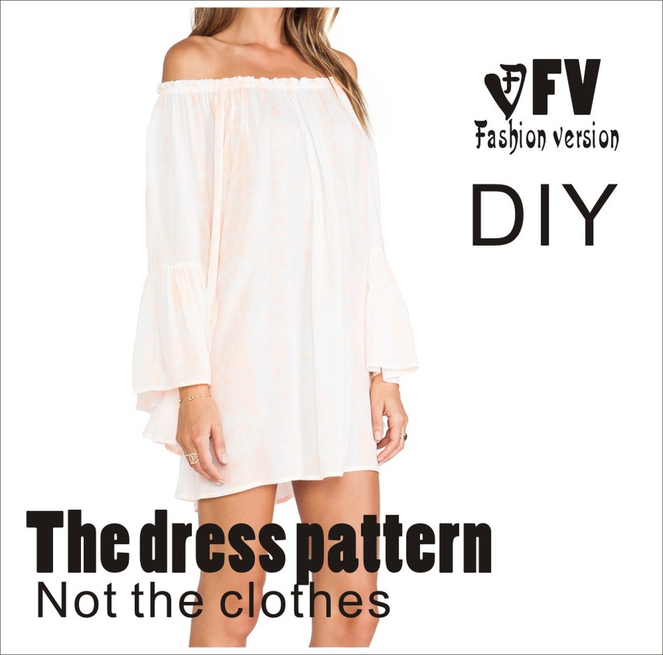 NºDresses Sewing Pattern Template Cutting drawing Clothing DIY ((Not ...