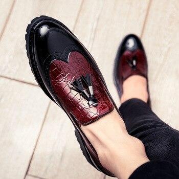 Breathable loafers Kontorsskor för män som kör mokasiner Bekvämt slip på modeskor Moods of Sweden