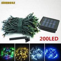 22M 200LED Solar String Fairy Lights Premium Quality Waterproof Solar Power 8 Modes Solar Lights For