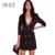 Irisie apparel negro sexy breves mujeres blazer dress traje de otoño doble de pecho mujer elegante dress oficina ocasional delgado vestidos