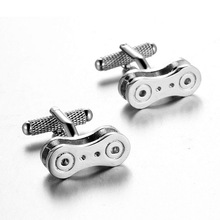 New arrival silver color Shirt cufflinks for mens Bike chain cuff links High Quality abotoaduras top grade Jewelry
