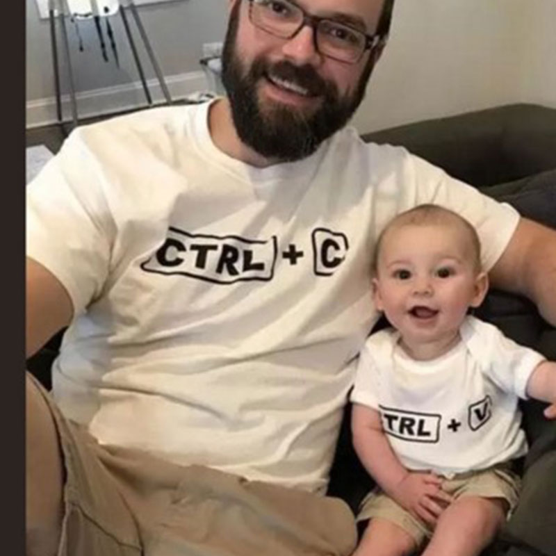 ctrl+c family matching clothes mommy andme T-shirt fashion mother daughter outfits daddy baby son look clothing father son womenctrl+c family matching clothes mommy andme T-shirt fashion mother daughter outfits daddy baby son look clothing father son women