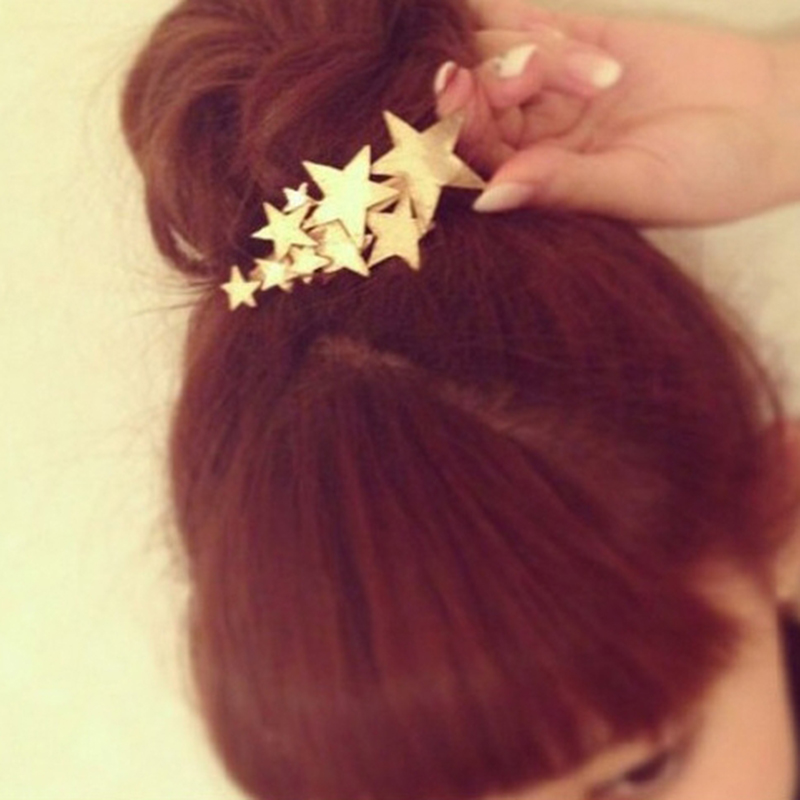 Summer Retro Alloy Metal Shell Star Hairpins Side Clip Sea Star Hair Clips Elegant Beauty Women Girl Barrettes