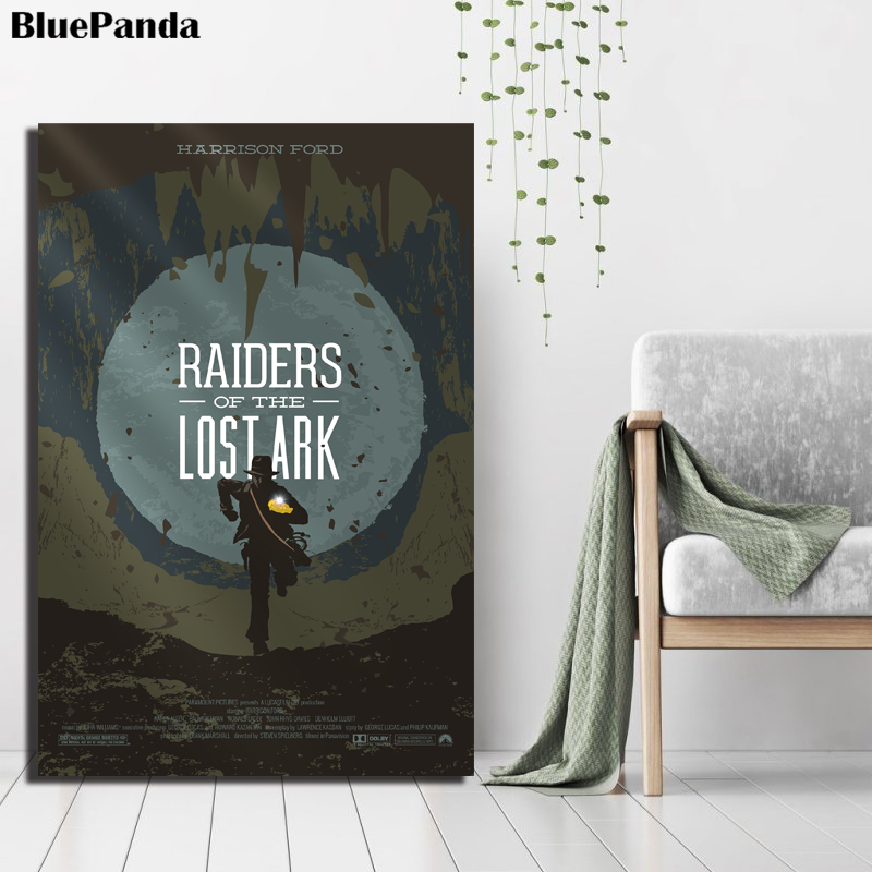 Raiders of the Lost Ark Movie Poster Oil Painting Canvas Wall Art Pictures Decoration For Living Room Bedroom Home Decor(China)