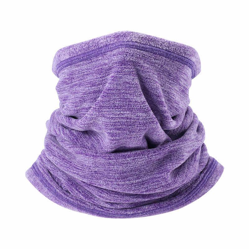 Многофункциональная велосипедная флисовая термо-трубка для шеи, зимний утеплитель, полулицевая маска, воротник, головной шарф, велосипедная кепка, шапка