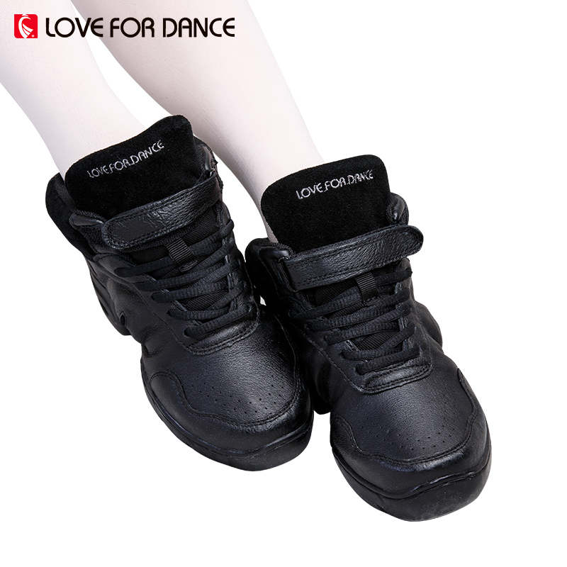 LOVE FOR DANCE 2017 New Women Dance Sneakers Shoes Genuine Leather Jazz Majoring In Pop Lady Sports Dance Shoes For Fitness 2-45
