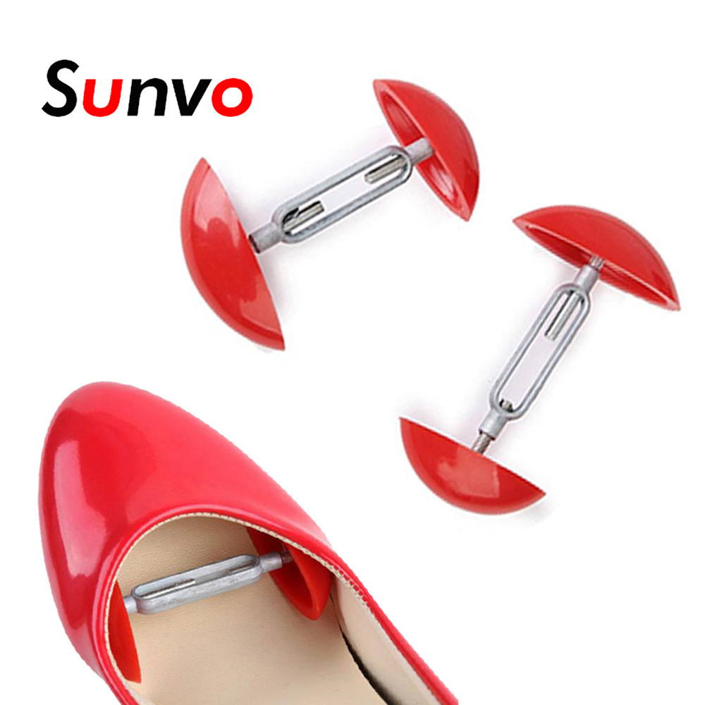 Sunvo 2pcs Adjustable Plastic Mini Shoes Keepers For Support Shoe Shapers Wide Width Holder Maca Care Stretcher Trees Extender