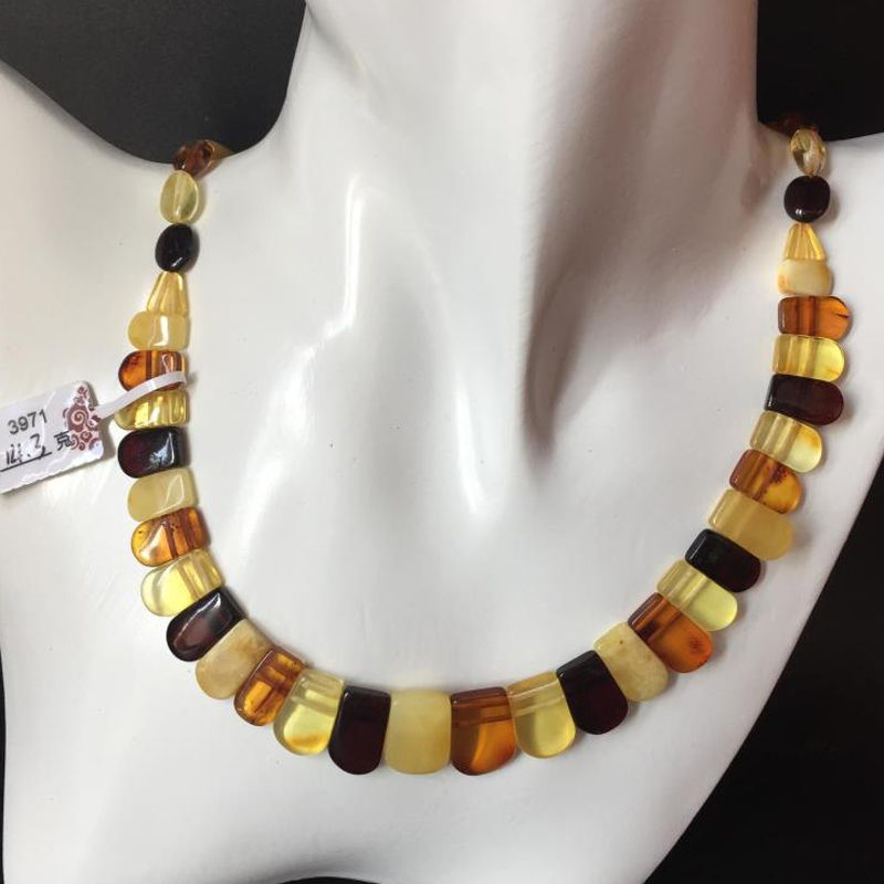Yoowei Baltic Amber Necklace for Women Genuine Bead Natural Amber Unique Adult Gift New Original Amber Necklace Collar Wholesale yoowei wholesale original amber necklace for kids adult natural beads baby amber teething necklace baltic amber jewelry 10 color