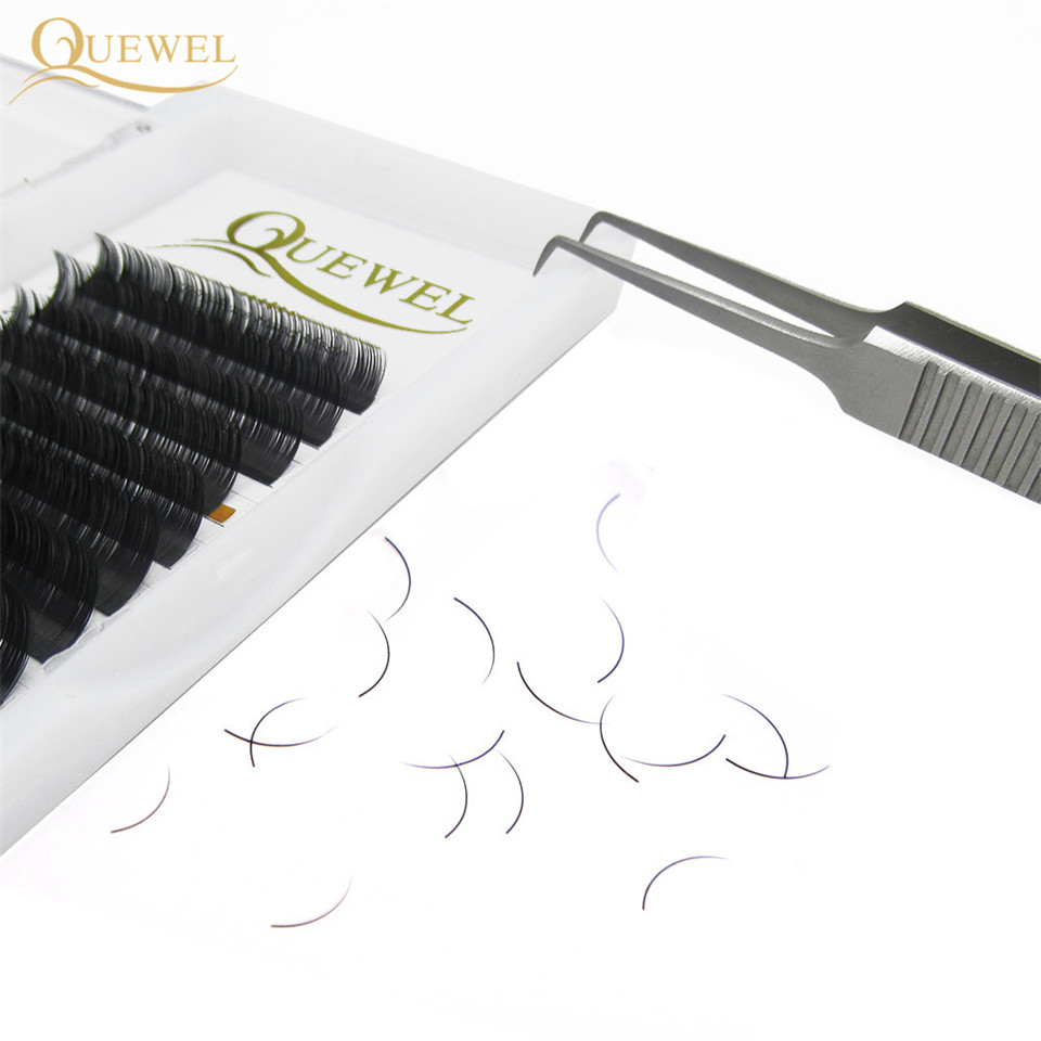 Image 2 - Individual Eyelashes Extension False Mink Volume Eyelash Extensions Lash Silk Fiber Natural Thick Soft Lash Professional Quewel-in False Eyelashes from Beauty & Health