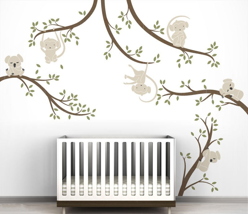 Creative Design White Tree Wall Stickers With Birds And Birdhouse Vinyl Wall Decal Hot Selling Wallpaper Home Decor Mural JW226C - 2