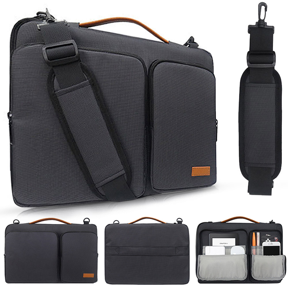 <font><b>Laptop</b></font> Bag <font><b>Case</b></font> 13 14 15 <font><b>15.6</b></font> inch Nylon airbag Shoulder Bag Handbag Waterproof Computer Messenger Bags for MacBook Dell <font><b>Acer</b></font> image
