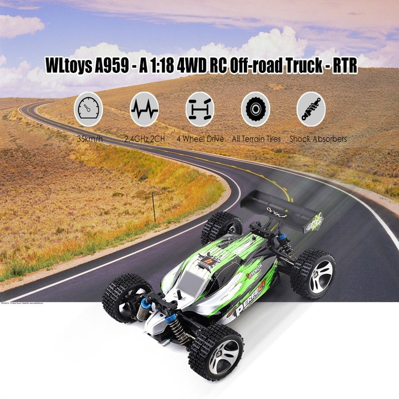 70KM/H New Arrival 1:18 4WD RC Car JJRC A959 Updated Version A959-B 2.4G Radio Control Truck RC Highspeed Off-Road A979