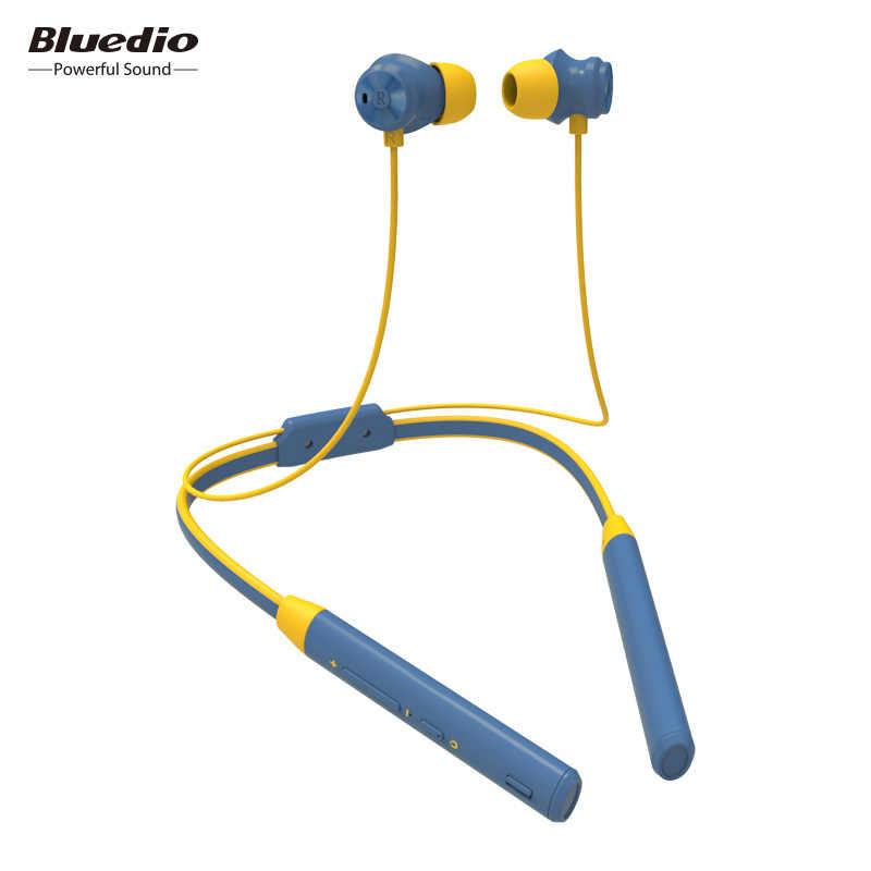 Bezprzewodowy zestaw słuchawkowy bluetooth słuchawki Bluedio TN2 z redukcją szumów zestaw słuchawkowy z pałąkiem na kark sportowe słuchawki douszne z mikrofonem dla telefonu komórkowego