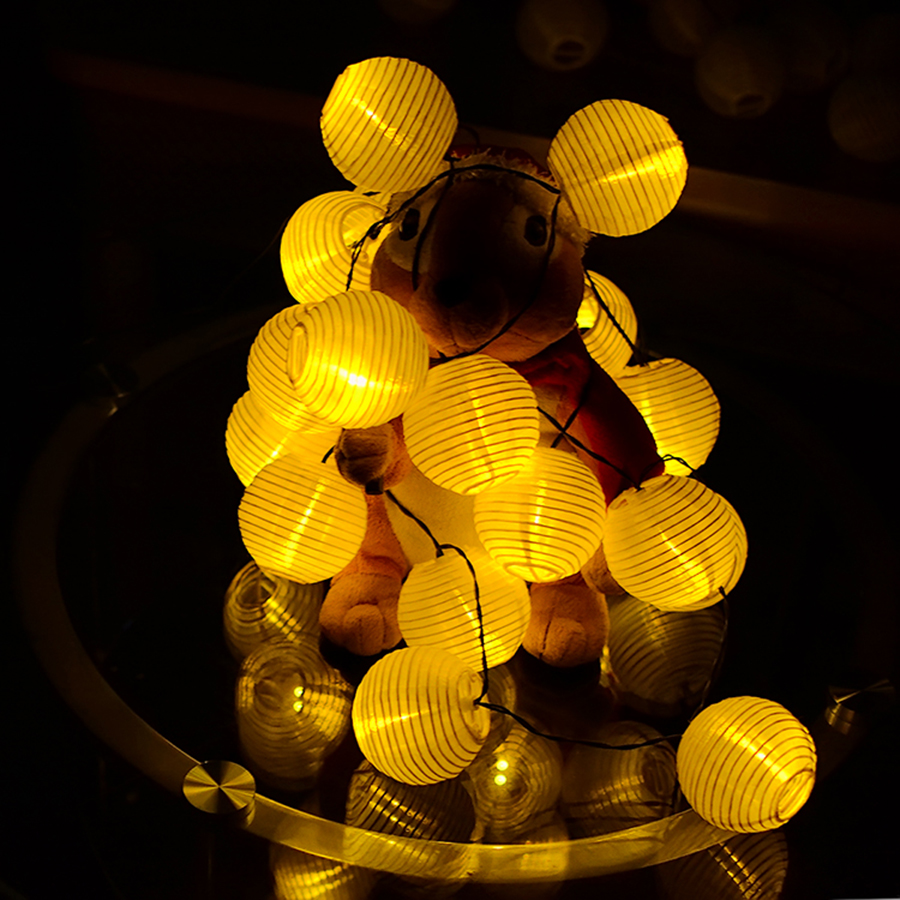 Lantern Ball Solar LED Stränglampor 20 LED Solar Lamp - Festlig belysning - Foto 5