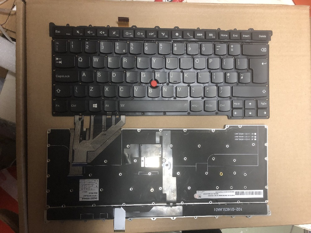 New keyboard for Lenovo ThinkPad X1 carbon Gen 3/Generation3 2015-year series UK layout new keyboard for lenovo thinkpad t410 t420 x220 w510 w520 t510 t520 t400s x220t x220i qwerty latin spanish espanol hispanic