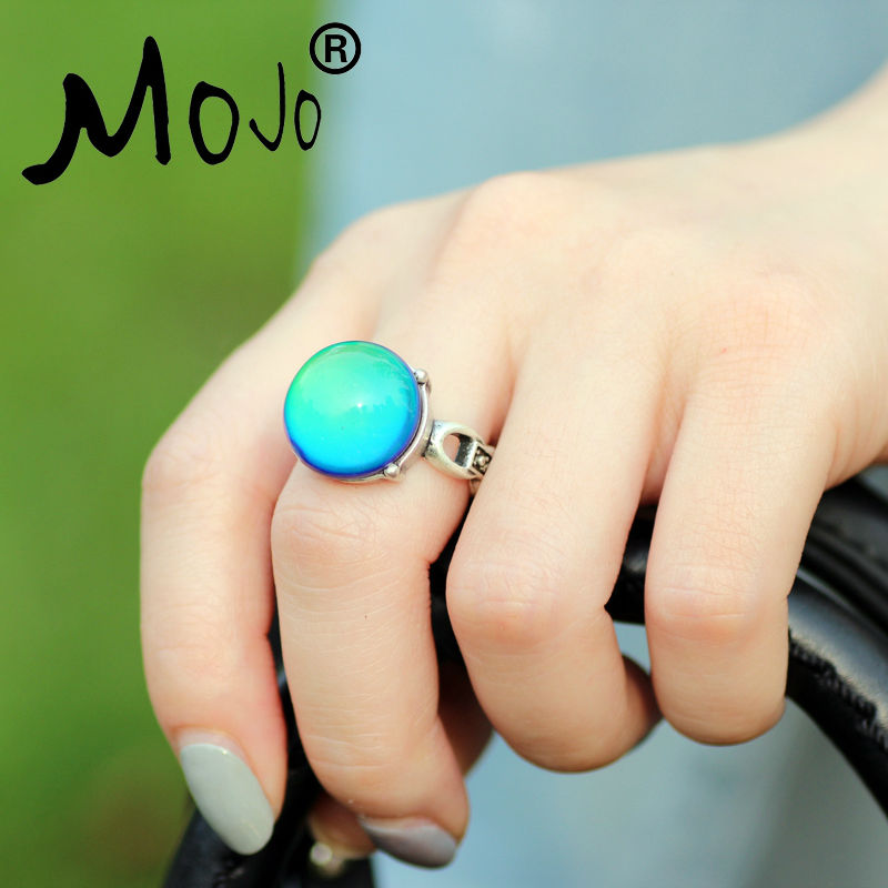 mojo vintage bohemia retro color change mood ring emotion feeling changeable ring temperature. Black Bedroom Furniture Sets. Home Design Ideas